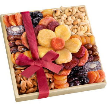 Golden State Fruit Harvest Bloom Dried Fruit and Nut Gift Tray, 10 pc