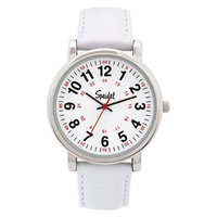 Speidel Medical Watch, White Face, Leather Band - White