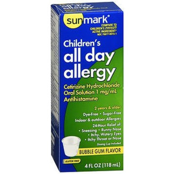 Sunmark Children's All Day Allergy Oral Solution Bubble Gum Flavor - 4 oz