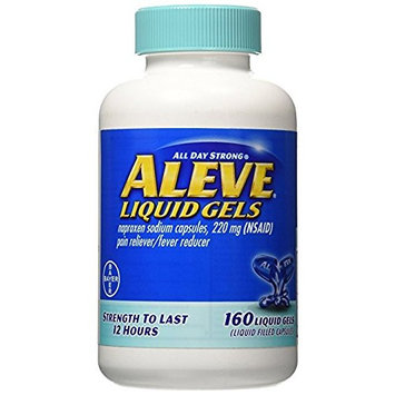 Aleve Liquid Gels, 3Pack (160 Count Each ) Vsdklw