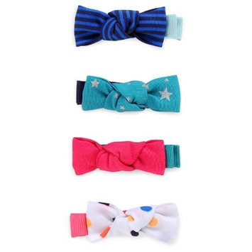 Girls' Knot Bow Hair Clips 4 pk - Cat & Jack™ Multicolored