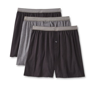 Basic Editions Men's 3-Pack Knit Boxer Shorts [Fit : Men's]