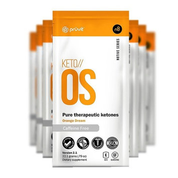 KETO//OS Orange Dream 2.1 No Caffeine, BHB Salts Ketogenic Supplement - Beta Hydroxybutyrates Exogenous Ketones for Fat Loss, Workout Energy Boost and Weight Management through Fast Ketosis, 5 Sachets [5]