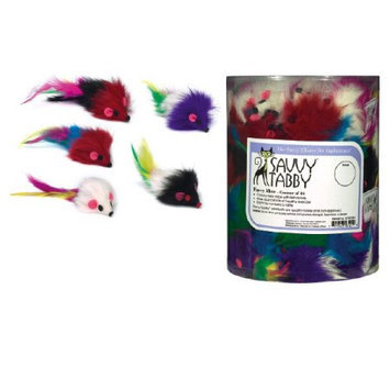 Savvy Tabby Furry Mice Canister - 84 Pieces