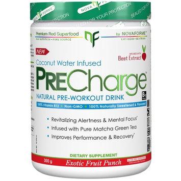 NovaForme, PreCharge Natural Pre-Workout Drink, Exotic Fruit Punch, 300 g