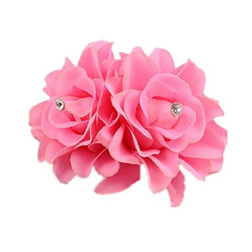 GreatFun 1Pc Beautiful Flower Hairpin Clip Hairband Bridal Wedding Party For Women Ladies (Pink)