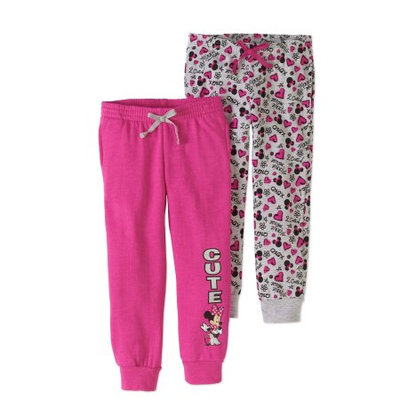 Minnie Mouse Toddler Girl Fleece Jogger Pants, 2-pack