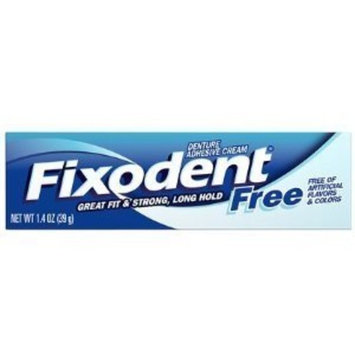 Fixodent Free Dental Adhesive Cream 1.4 oz. (Pack of 6)