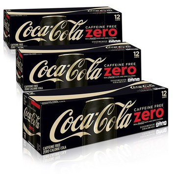 Caffeine Free Coke Zero Fridge Pack Bundle, 12 fl oz, 36 Pack [Coke Zero Caffeine Free]