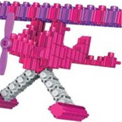 SNAPO 16A152PK 151 Piece Beach Fun Building Blocks Pink & Purple - White