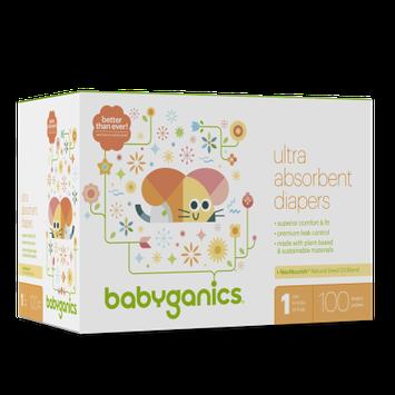Babyganics Diapers Size 1 Box