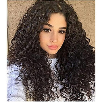 KRN Water Wave Hair Lace Front Wigs Natural Black Color Glueless Full Lace Human Hair Wig 150% Density for Black Women with Baby Hair by Carina Hair