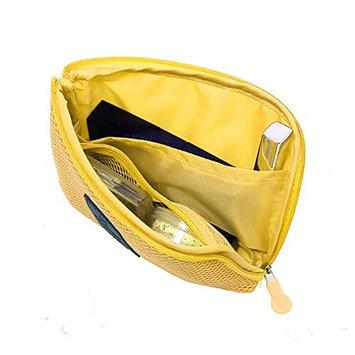 zipper storage Fashion creativity Shock-proof Digital Bag Charger data line storage bag-Small(12x14cm),Yellow