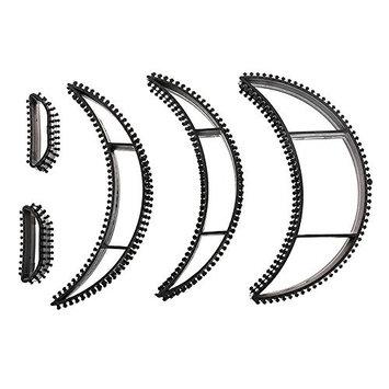 Generic Big Bumpits Happie Hair Volumizing Inserts Hair Pump Beauty Set Tool Gift Black 5Pcs