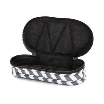 Therapure Health Essentials Essential Oil Carrying Case, Roll-On 5-15ml, 5-Bottle, Pattern, Grey Chevron