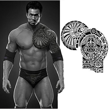 Waterproof Temporary Tattoos Paper Sticker Dwayne Johnson Totem Large Body Art