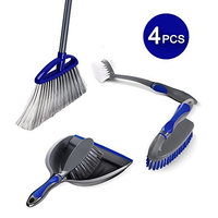 Masthome Household Cleaning Set Include Kitchen Brush,Dust Pan and Angle Broom For Kitchen Clean