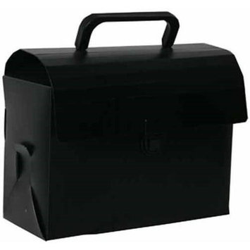 Jam Paper & Envelope Black Plastic Lunchbox / Art Case with Handles (6x9x4) - Sold individually