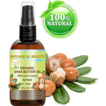 ORGANIC SHEA BUTTER OIL 100% Pure / Natural / Undiluted / Refined Cold Pressed Carrier Oil. 4 Fl.oz.- 120 ml. For Skin, Hair, Lip and Nail Care. by Botanical Beauty
