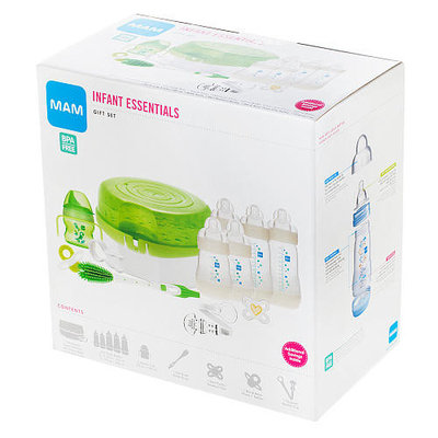 MAM Infant Essentials Baby Bottle Feeding Gift Set