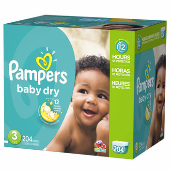 Pampers Baby Dry - Size 3 Diapers - Qty 204 pieces each - Branded Diapers at a wholesale price - Soft & Comfortable for babies