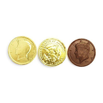 SweetGourmet Premium Milk Chocolate Gold 50c Coins