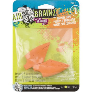 Testors Airbrainz Airbrush Grips 2/Pkg-Orange