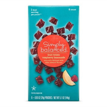 Raspberry Lemonade Fruit Twists - 5.1oz - Simply Balanced™