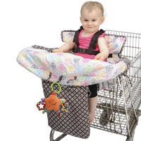 His Juveniles Nuby shopping cart cover- flower medallion twin