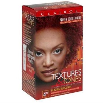 Clairol Textures & Tones Permanent Hair Color, Blazing Burgundy 4RV 1.0 ea
