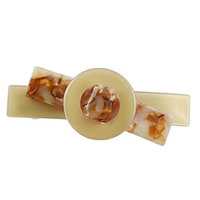 Homyl Retro Multi-color No-slip Auto Clasp Tortoise Shell Barrettes with Crafts Barrette Auto Clasp Nickel for Wedding - Light Beige, as described