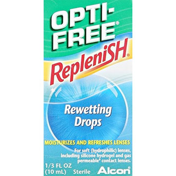 2 Pack - Opti-Free RepleniSH Rewetting Drops 1/3 fl oz (10 mL) Each
