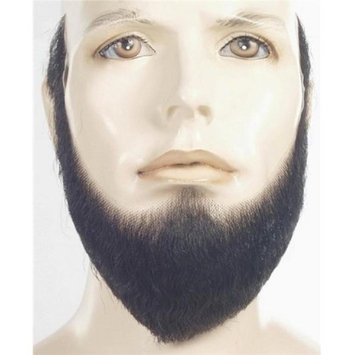 Morris Products Morris Costumes LW375DKBNGY HX4 Human Hair Full Face Beard, No. 51 Dark Brown with Grey