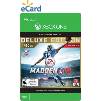 Incomm Madden NFL 16 (Xbox One) Deluxe Edition Pre Purchase (Email Delivery)