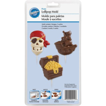 Wilton 489595 Lollipop Mold-Pirate 3 Cavities - 3 Designs