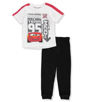 Disney Cars Baby Boys' 2-Piece Outfit - white/multi, 18 months