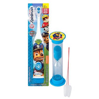 Paw Patrol Chase Inspired 2pc Oral Hygiene Set! Includes Turbo Powered Spin Toothbrush & Police Pup Brushing Timer! Plus Bonus