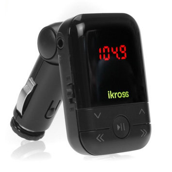iKross Car MP3 Wireless FM Transmitter with USB Port / SD / MMC Card Slot & Remote for Apple iPhone 5S, 5C, 5, 4S iPod Touch 5 Nano 7 iPad & more
