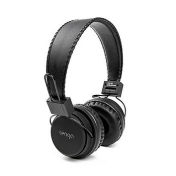 Tenqa REMXD Wireless Bluetooth Headphones - Stereo - Black - Wireless - Bluetooth - 33 ft - Over-the-head - Binaural - Circumaural