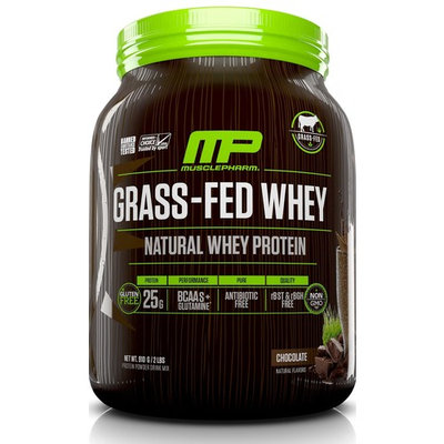 MusclePharm Grass-Fed Whey Protein Powder, Chocolate, 25g Protein, 2 Lb