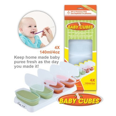 BABY CUBES 140ml/4oz - FOOD STORAGE CONTAINERS - HOME MADE BABY FOOD