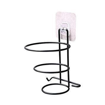 UNIKEY Hair dryer wall mount free punch household bathroom toilet rack strong toilet toilet storage rack