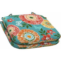 Mainstays Outdoor Resin Seat Pads, Butterfly Suzani, Set of 2