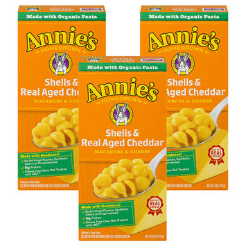 (3 Pack) Annie's Macaroni and Cheese Shells & Aged Cheddar Mac and Cheese 6 oz [multipack_quantity: multipack_quantity-3]