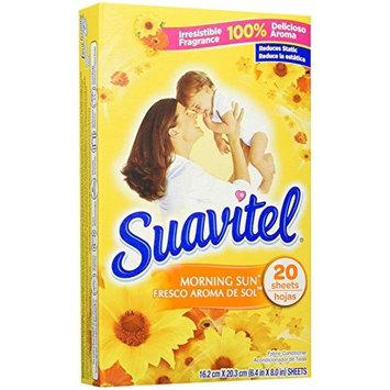 Suavitel Dryer Sheets, Morning Sun, 20 Count