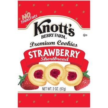Biscomerica Knott's Shortbread Cookies, Strawberry, 3 Oz, 60 Ct