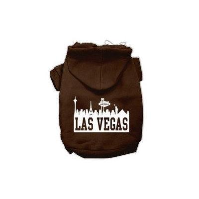 Mirage Pet Products Las Vegas Skyline Screen Print Pet Hoodies Brown Size Lg (14)