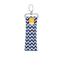 Auch 6 Pcs Chapstick Key Chain Holder, Wave Pattern Chapstick Pouch Bag, Lipstick Holder Keychain
