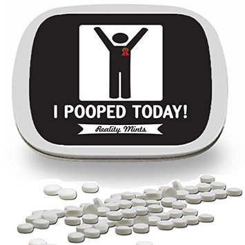 I Pooped Today Mints – Silly Poop Gift – Gifts for Any Occasion – Funny Mint Tins - Stocking Stuffers for Friends – Wintergreen Breath Mints – Constipation Relief – Happy Poop