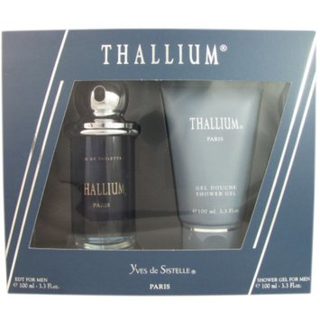 THALLIUM by Jacques Evard Cologne Gift Set for Men (SET-EDT SPRAY 3.3 OZ & SHOWER GEL 3.3 OZ)